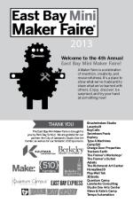 2013 East Bay Mini Maker Faire Program Cover
